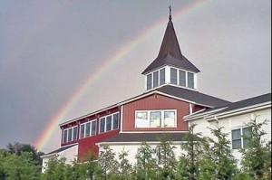 Rainbow over Steeple