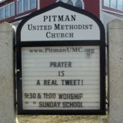 Signboard: Prayer is a Real Tweet (3/1/14)