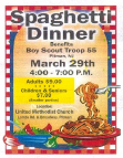 Boy Scouts Spaghetti Dinner (3/29/14)