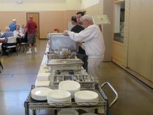 Preparing the Breakfast Buffet Line