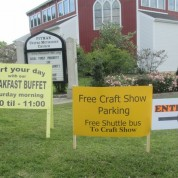 PUMC Welcomes Pitman Craft Show Visitors (9/20/14)