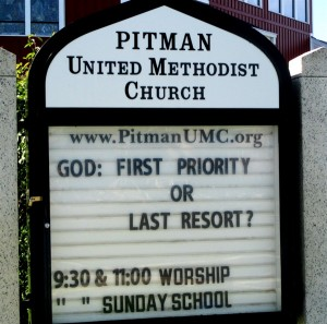 God- First Priority or Last Resort?