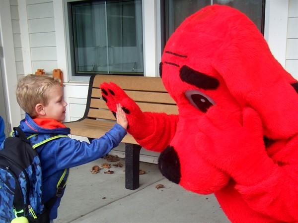 A big red Fist Bump