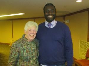 Grace Kier (PUMC Missions Chair) & Marcus Bell (Urban Promise)