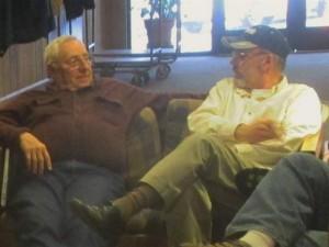 Jim Kier with Pastor Jim