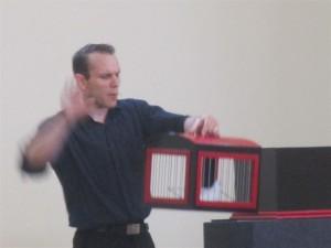 Magician Ed Pietrzak entertains the crowd