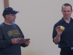 Pastor Jim assists