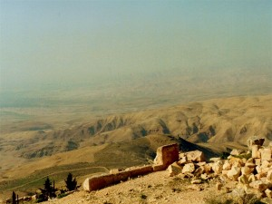 Mt.Nebo.  Moses' view of the Promised Land from across the Jordan Valley.