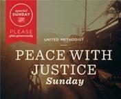 PUMC to Celebrate Peace With Justice Sunday (5/31/15)