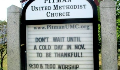 Not a Cold Day in November? Be Thankful Anyway!!!