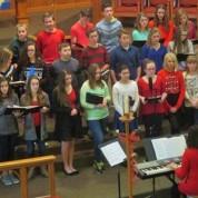 Middle School Singers Take a Field Trip to PUMC! (12/16/15)