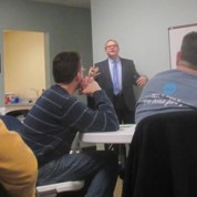Men's Fellowship Gathers with Pastor Chris Heckert (1/8/16)