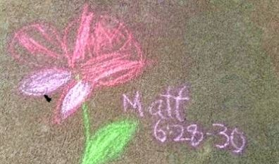 Chalk Art Puts God into Our Walk (8/26/18)