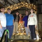 PUMC Builds Christmas Parade Float (11/23/14)